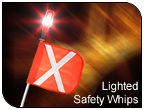 MAGNUM - Lighted Safety Whips